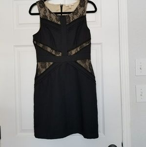 Skies are Blue little black dress lace size Small